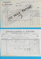 70 - Haute-saône - FONTENOIS-LA-VILLE - Facture KREBS - Fromagerie - 1944 - REF 192B - 1900 – 1949
