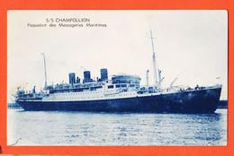 VaH003 S/S CHAMPOLLION Paquebot Des Messageries Maritimes Lancé 16-03-1924 à LA CIOTAT Naufrage BEYROUTH 22-12-1952 - Steamers