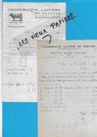 70 - Haute-saône - FRETTES - Facture COOPERATIVE LAITIERE - Beurrerie - 1951 - REF 192B - 1900 – 1949