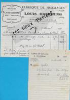 70 - Haute-saône - GENEVREY - Facture BOSCHUNG - Fromagerie - 1939 - REF 192B - 1900 – 1949