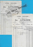 70 - Haute-saône - HURECOUER - Facture LOTSCHER - Laiterie, Fromagerie - 1942 - REF 192B - 1900 – 1949