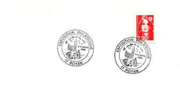 CHARENTE Mme - Dépt N° 17 = ROYAN 1990 = CACHET TEMPORAIRE  Illustré COQUILLAGE ' EXPOSITION PHILATELIQUE ' - Cachets Commémoratifs