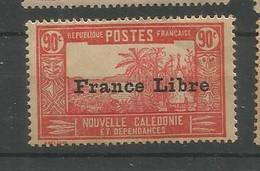 216  Timbre Surchargé France Libre  Sans Ch                           (clasncver) - Neufs