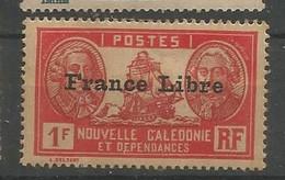 217  Timbre Surchargé France Libre  Sans Ch                           (clasncver) - Neufs