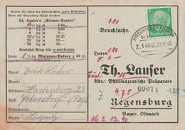 Deutsches Reich Karte Mit Bahnpost Hirschberg - Polaun Zug 1402 Jelenia Góra - Polubny Schlesien Sudetenland 1940 - Briefe U. Dokumente
