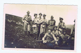 MONTE GUSELLA ( VICENZA ) GRUPPO DI ALPINI - CARTOLINA FOTOGRAFICA - ANNO 1939 ( 7563) - Oorlog, Militair