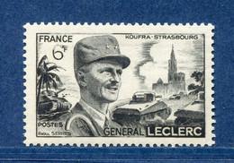 ⭐ France - Variété - YT N° 815 - Couleurs - Pétouille - Chiffre Blanc - Neuf Sans Charnière - 1948 ⭐ - Varieties: 1945-49 Mint/hinged