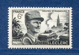 ⭐ France - Variété - YT N° 815 - Couleurs - Pétouille - Balafre Cou - Neuf Sans Charnière - 1948 ⭐ - Varieties: 1945-49 Mint/hinged