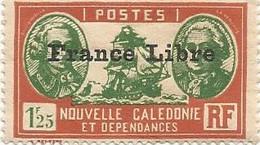 218 Timbre Surchargé France Libre  Sans Ch                           (clasncver) - Neufs