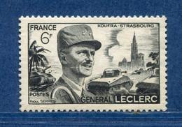 ⭐ France - Variété - YT N° 815 - Couleurs - Pétouille - Balafre Visage - Neuf Sans Charnière - 1948 ⭐ - Varieties: 1945-49 Mint/hinged