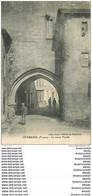 86 CHARROUX. Animation Sous Le Vieux Porche 1923 - Charroux