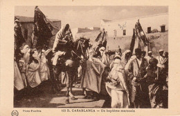 CASABLANCA (Maroc) à Petit Prix - Un Baptême Marocain (une Circoncision) - Photo Flandrin - Cpa Vierge -  Très Bon état - Casablanca