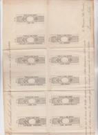 FOGLIO ALLEGATO  AL  REGIO  DECRETO  CON  FAC-SIMILI  MARCHE PER CAMBIALI 1863 - Fiscali
