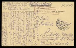 TREASURE HUNT [00152] Germany 1915 WWI Picture Post Card (Zonnebeke Church) Used As Field Post Card Sent To Berlin - Brieven En Documenten