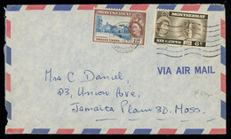 TREASURE HUNT [00176] Montserrat 1962 Air Mail Cover To The US Franked With QEII 6c+12c Pictorials - Montserrat