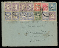 TREASURE HUNT [00200] Netherlands 1920s Cover Front To Germany With Numeral Issue 4-colour Large And Impressive Franking - Lettres & Documents