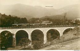 Ligne De Nyon-St Cergue Avec Train Sur Le Pont De Givrins. Photo Cpa Vierge - VD Vaud