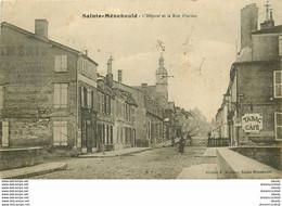 WW 51 SAINTE-MENEHOULD. Hôpital Et Passage à Niveau Rue Florion Avec Café Tabac Quai Valmy 1915 - Sainte-Menehould