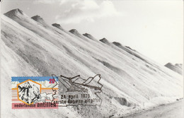 ANTILLES NEERLANDAISES CARTE MAXIMUM 1975 INDUSTRIE DU SEL - Niederländische Antillen, Curaçao, Aruba