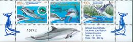 Nouvelle Calédonie Yv.N° 965 ** / 967 ** Cétacés Dauphins Surchargés + 10F  - Bas - Cote 54 € - Unused Stamps