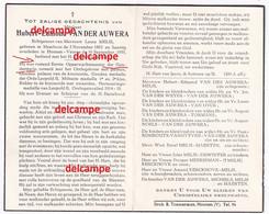 Doodsprentje Hubert Van Der Auwera Meerhout Opperwachtmeester Rijkswacht Oudstrijder 1914 18 En Overleden Houtem 1955 - Images Religieuses