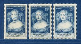 ⭐ France - Variété - YT N° 874 - Couleurs - Pétouille - Neuf Sans Charnière - 1950 ⭐ - Varieties: 1950-59 Mint/hinged