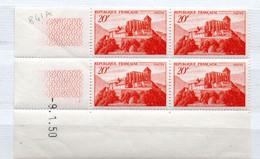 FRANCE N° 841A 20F ROUGE ORANGE ST BERNARD DE COMMINGES COIN DATE DU 9.1.1950 NEUF  SANS CHARNIERE - 1950-1959