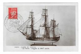 40 SM - SALON DE LA MARINE 1943 - LA FLORE - Frégate Du XVIII Siècle - Cachet à Date 19 Juin 1943 - Posta Marittima