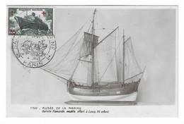 41 SM - SALON DE LA MARINE 1943 - Galiote Flamande ( Modèle Offert à Louis XV Enfant)- Cachet à Date 4 Juin 1943 - Posta Marittima
