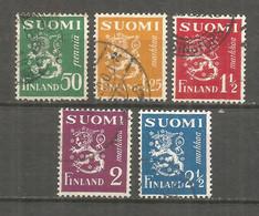 Finland 1932 Used Stamps Set - Gebraucht