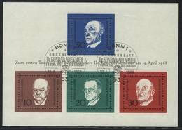 Block 4 Adenauer 1968, ESSt Bonn - Ohne Zuordnung
