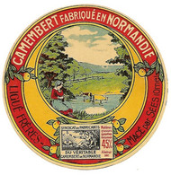 Etiquette CAMEMBERT LIGUE Frères MACE Orne - Cheese