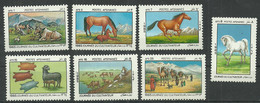 AFGHANISTAN 1985 Year, Mint Stamps MNH (**) Horses - Afghanistan