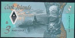 COOK ISLANDS NLP 3 DOLLARS 2021    #AA       UNC. - Cook Islands
