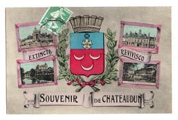 (28) 036, Chateaudun, ELD Colorisée, Souvenir De Chateaudun, Multi-vues - Chateaudun