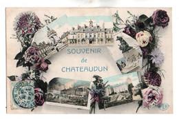 (28) 035, Chateaudun, ELD Colorisée, Souvenir De Chateaudun, Multi-vues - Chateaudun