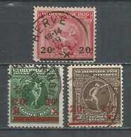 Belgium 1921 Year, Used Stamps (o),Mi. 162-64 - Used Stamps