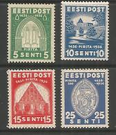 Estonia 1936 Mint Stamps MNH (**) Mich.# 120-123 - Estonia