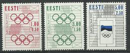 Estonia 1992 Mint Stamps MNH (**) Mich.# 180-82 - Estonia