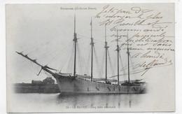 (RECTO / VERSO) LE HAVRE EN 1903 - N° 70 - VOILIER AMERICAIN  AVEC CINQ MATS - BEAU CACHET ET TIMBRE - CPA PRECURSEUR - Harbour