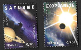 TIMBRES FRANCE OBLITERATION RONDE .. N°4353/4354  EUROPA  ASTRONOMIE.  TBE SCAN - Gebraucht