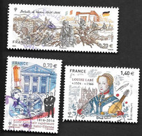 TIMBRES FRANCE OBLITERATION RONDE .  2016 .  N° 5062/5063/5066.. TBE . - Gebraucht