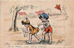 Fantaisie -  Illustrateur M. Jacobs - Style G. Bouret - Vlan ! Voilà Un Attérissage à La Lune - Autres Illustrateurs
