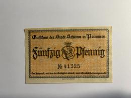 Allemagne Notgeld Schlawe 50 Pfennig - Collezioni