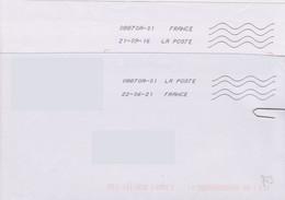 Toshiba 08870A-01 La Poste En 1ère Ligne Et France En Seconde (présentation Inversée à La Précédente) Voir Scan) - Mechanical Postmarks (Other)