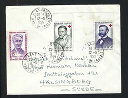 FRANCE 1959: LSC De Lens (PdC) Pour La Suède - Briefe U. Dokumente