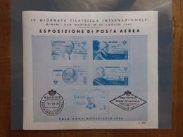 REPUBBLICA - Erinnofili - Giornata Filatelica Rimini-San Marino 1947 - BF Nuovo ** + Spese Postali - Blocks & Sheetlets