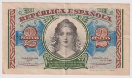 Billet 2 Pesetas Espagne 1938 Très Bon état - 1-2 Pesetas