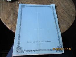 Cdossier Vente Domaine De Maligne A Saint Rix A Monsieur Languer De Sivry A Arnay Cote D Or  1855 Timbre Fiscal Imperial - Historische Documenten