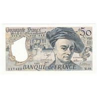 50 Francs Quentin De La Tour 1991 P/NEUF Coin Corné - 50 F 1976-1992 ''Quentin De La Tour''